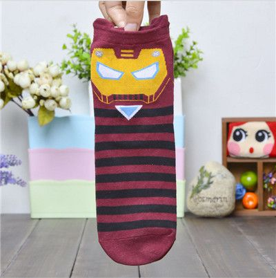 2016 New Style Cotton Women Sock Lady Cotton Girl Cute Female Minions Despicable Me Printing Tube Sock