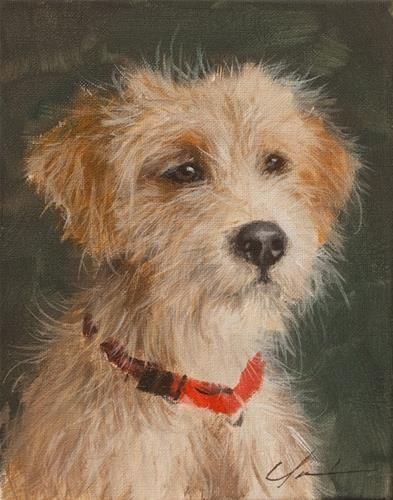 "Daily+Paintworks+-+""PAINT+MY+DOG!+#21""+-+Original+Fine+Art+for+Sale+-+©+Clair+Hartmann"