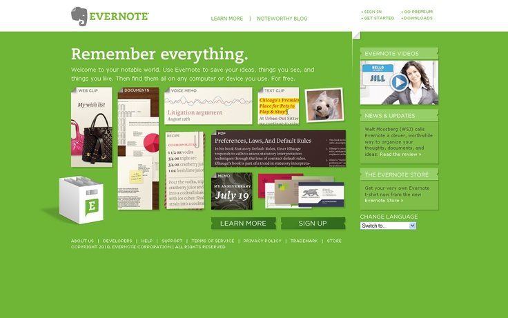 Evernote, 1st February 2010