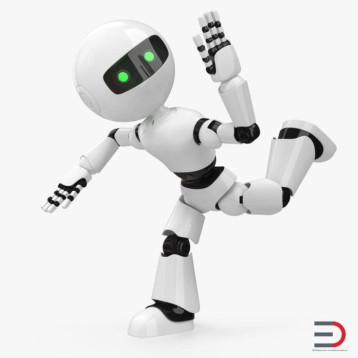 3D Modern Robot Rigged model
