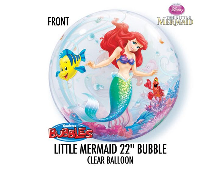 """Excited to share the latest addition to my #etsy shop: Little Mermaid Balloons (4ct) - Wholesale Balloons - 22"""" Round Clear Balloons - Disney Little Mermaid Birthday Balloon Decoration #birthday #supplies #partydecoration #balloons #giantroundballoons #little mermaid"""