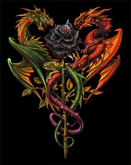 подолгу мучил картинка дракон на кресте очень прост