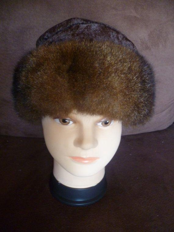 New Zealand Possum Fur Brown or Grey Pillbox Trim Hat