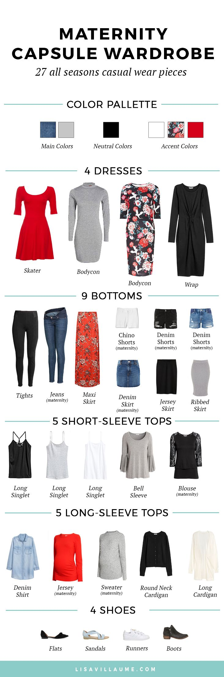 Building the perfect maternity capsule wardrobe can be a little daunting, especially with a growing belly! Here is the super easy formula I used to create the maternity capsule wardrobe.