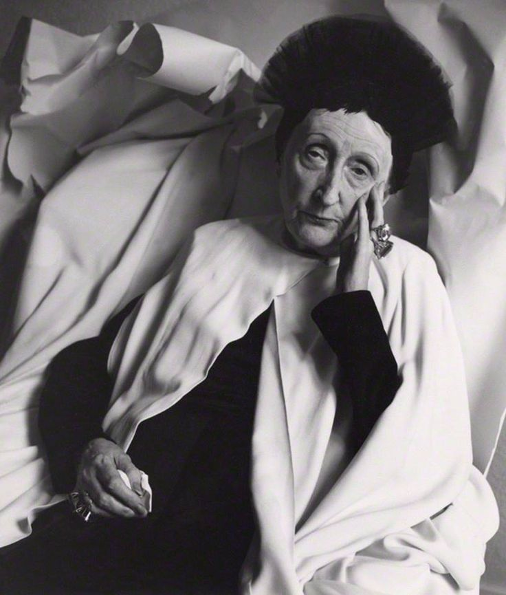 "Edith Sitwell by Cecil Beaton, 1962. ""My personal hobbies are reading, listening to music, and silence."" - Edith Sitwell"
