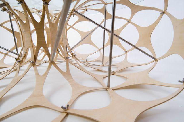 Colección de mesas modulares en madera de abedul|Espacios en madera