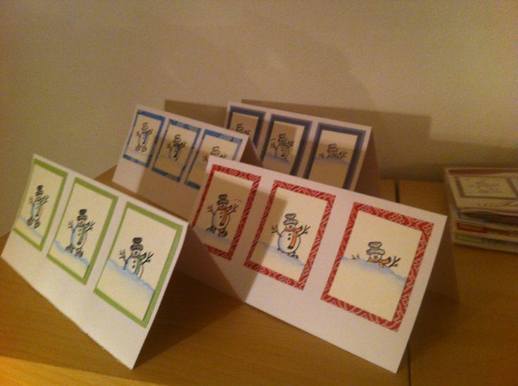 Snowman cards - work in progress