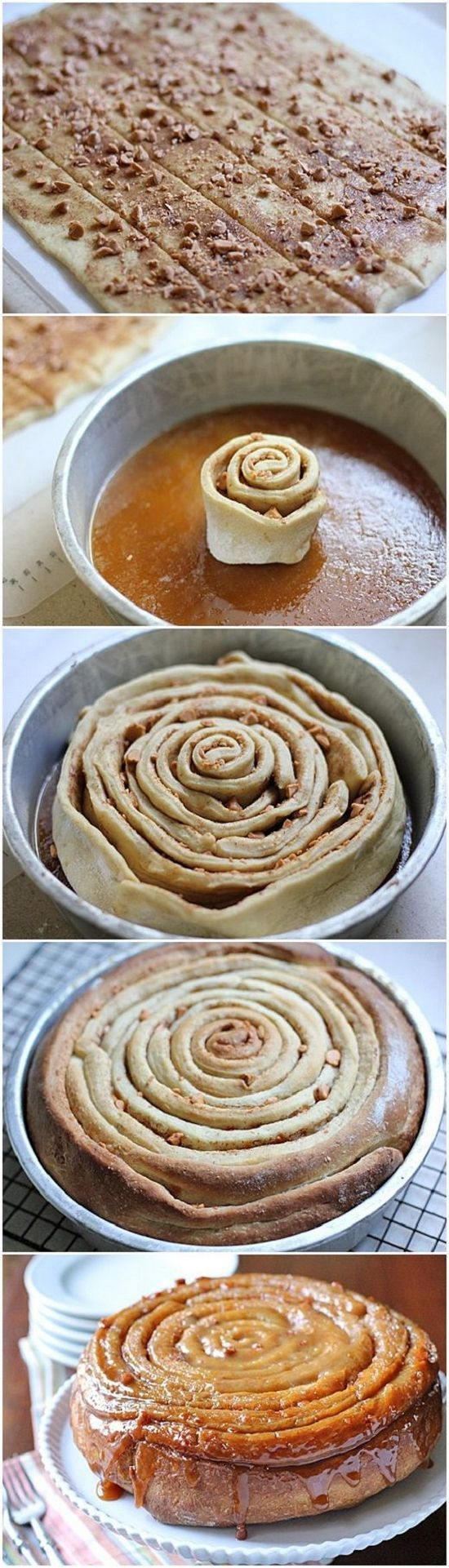 Butterscotch Spiral Coffee Cake….looks like its made with canned breadsticks!