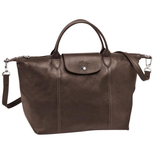 Sac porté main Le pliage cuir - Sacs - Longchamp - Camel - longchamp.com