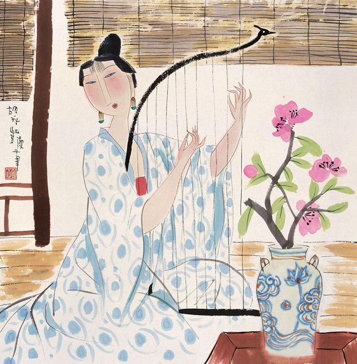 胡永凱-表達東方女士和中國古老的建築和花園的美麗, 浪漫懷舊, 和農民鄉村生活節奏的作品。。。 - ☆平平.淡淡.也是真☆  - ☆☆。 平平。淡淡。也是真。☆☆ 。