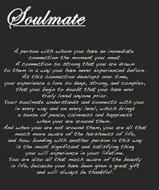 what does soulmate mean in a relationship