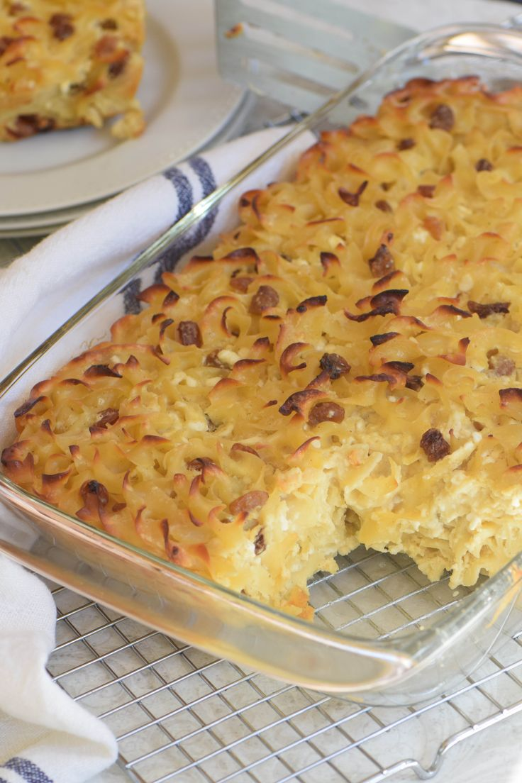 My family's all-time favorite sweet noodle kugel - the star of any Yom Kippur break-fast.