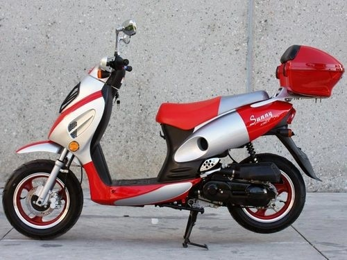 NEW Sunny Powersports MC-D150E RED Gas Metro 150cc Moped Scooter w/ Trunk , $1399