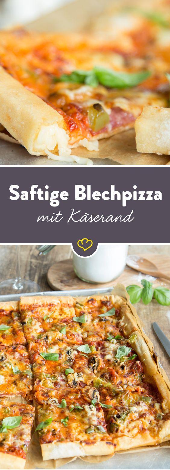 Beleg deine Pizza, wie sie dir gefällt. Was aber niemals bei fehlen darf, ist der schmelzende Gouda im knusprigen Pizzarand!