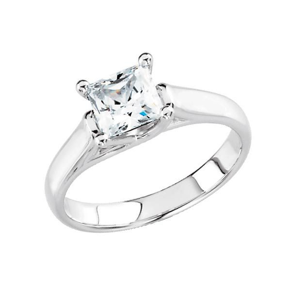 classic solitaire princess cut diamond engagement ring searching for affordable and beautiful engagement rings under - Wedding Rings Under 500