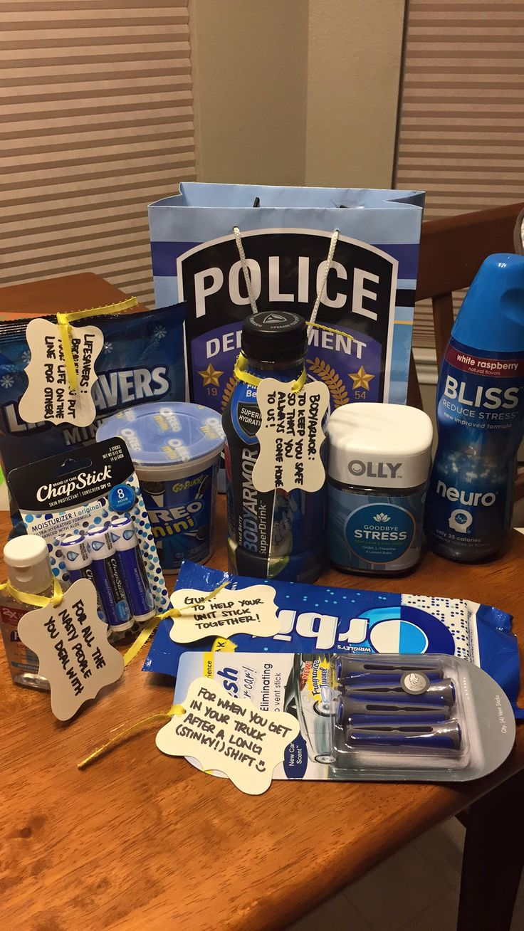 Police appreciation gift for my husband!