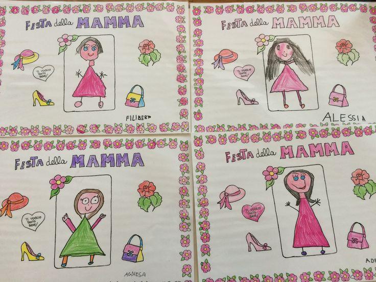 Lavoretto per Festa Mamma: tovaglietta . Bambini 5 anni