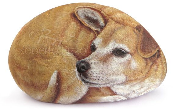 Finely Detailed Dog Portrait Painted on a Sea by RobertoRizzoArt