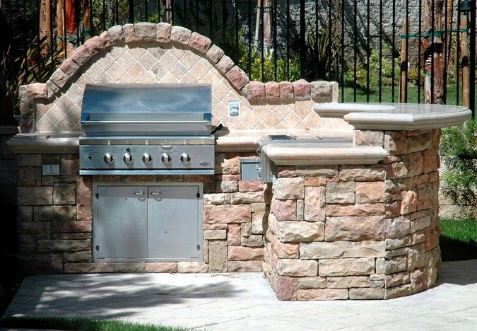 Small Outdoor Kitchen, Beverage Station Outdoor Kitchens The Green Scene Chatsworth, CA
