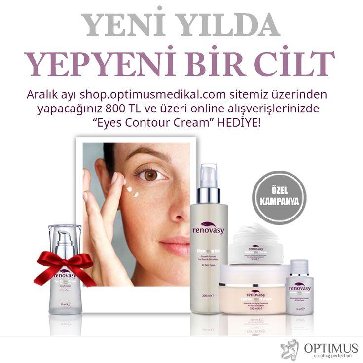 Anti-Aging bakım sunan Renovasy Eyes Contour Cream Aralık Ayı Boyunca  Yapacağınız 800 TL ve