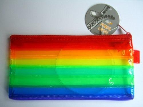 Tiger pencil case - rainbow colours - possible Pass the Parcel prize