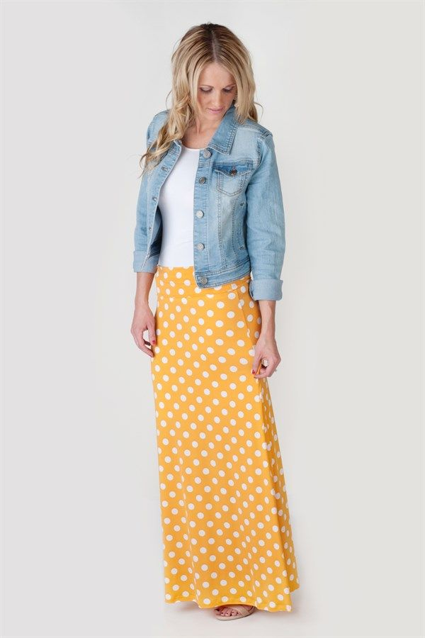 Polka Dot Maxi Skirts - 4 Colors | Jane