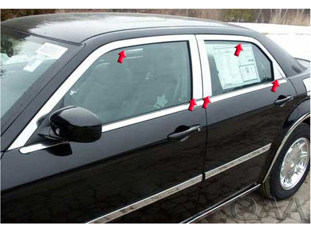 300 SEDAN 2005-2010 CHRYSLER *C-MODEL ONLY*(10 pieces: Window Package -W/FACT.CHROME) WP45766
