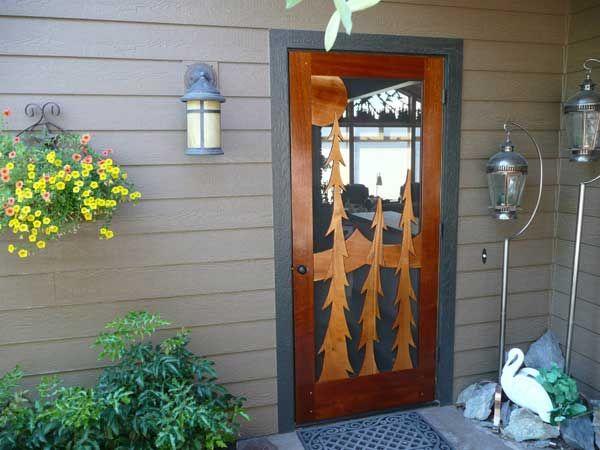 10 best images about doors on pinterest wood storm doors for Custom screen doors