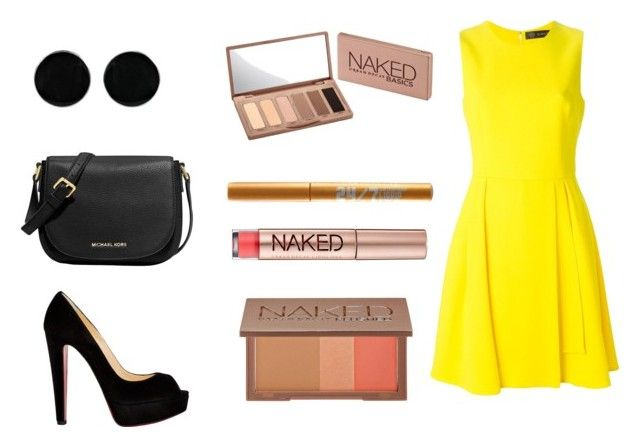 """""""Wedding look With urban decay"""" by dadacookie on Polyvore featuring Versace, Christian Louboutin, MICHAEL Michael Kors, AeraVida and Urban Decay"""