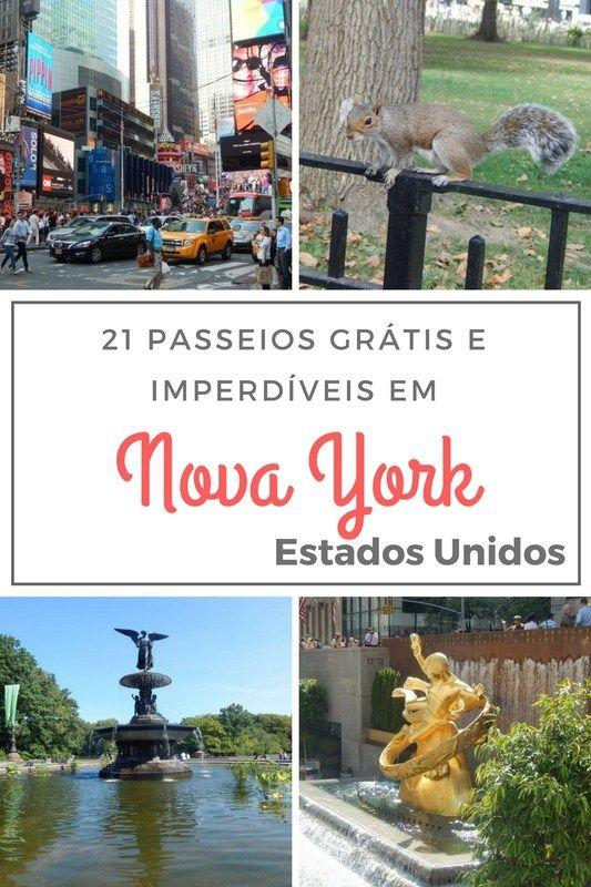 21 passeios grátis e imperdíveis em Nova York (Estados Unidos) Viagem, viajar, travel, viajar barato, New York, viagem em família, parques nacionais, economizar em viagens, central Park