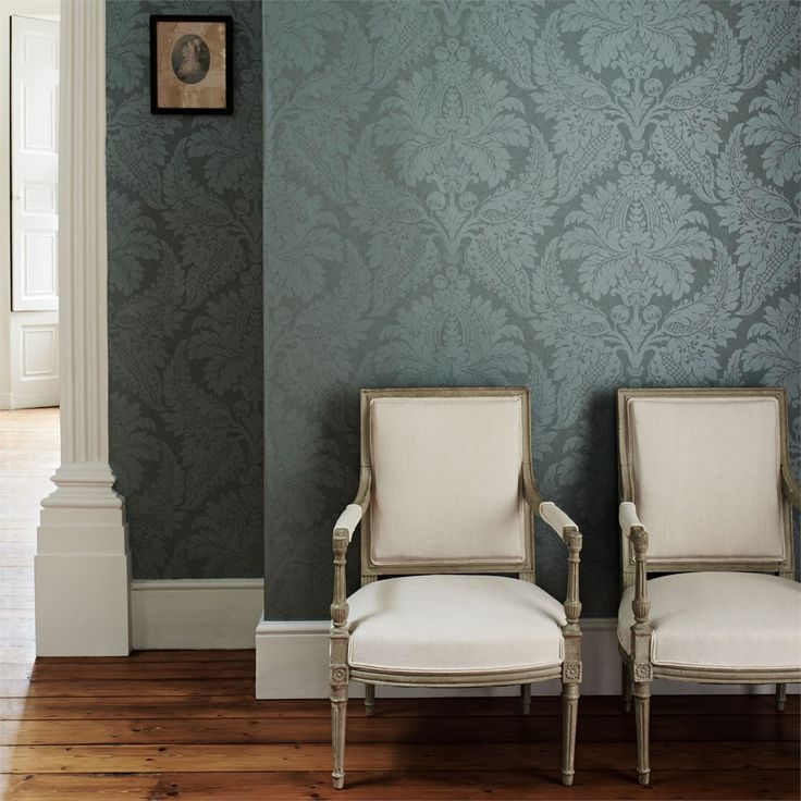 """Malmaison Damask"" - Constantina Damask Wallpapers."