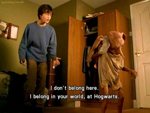 Harry Potter and Dobby (This sounds like something I would say.)