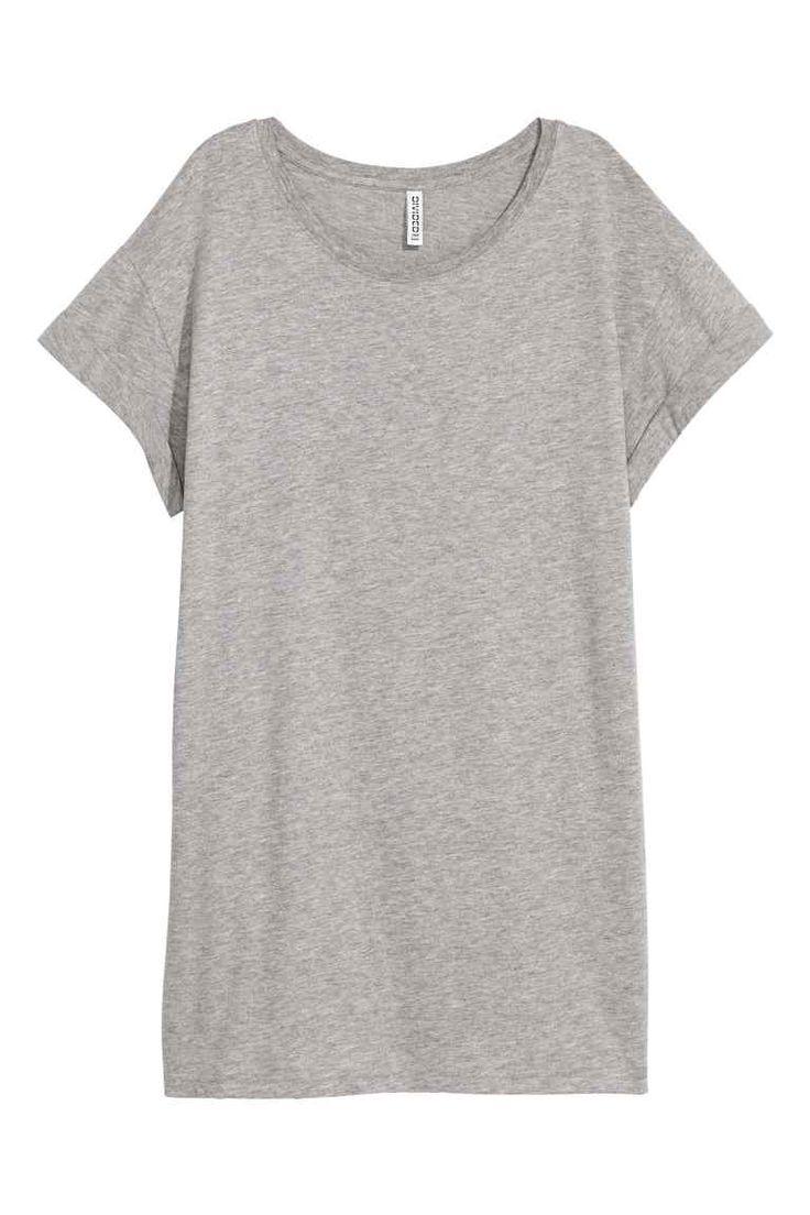 Dlouhé triko - Šedý melír - ŽENY | H&M CZ
