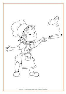 Pancake Day Colouring Pages
