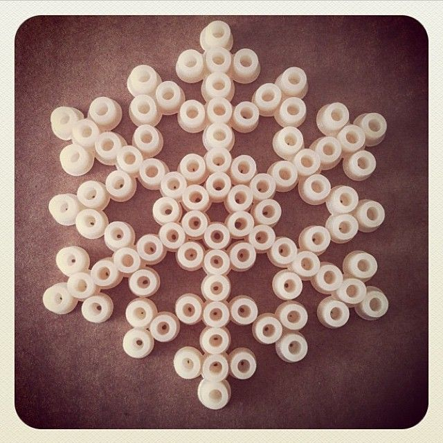 Snowflake Hama perler beads by Phistermedister