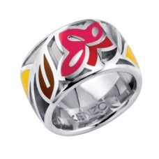 KENZO Identity Stained Glass Pink Ring