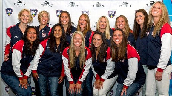 US women's olympic water polo team, doing sooo well, and none of them are even out of college!