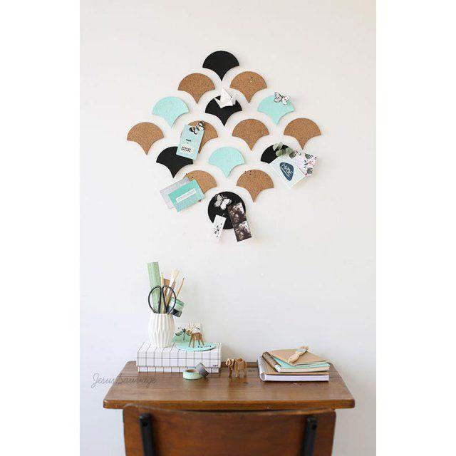 12 diy pour fabriquer un organiseur mural de bureau fils bricolage et peintures murales. Black Bedroom Furniture Sets. Home Design Ideas