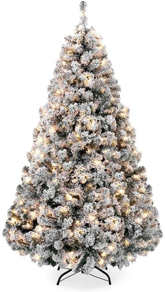 C15 7ft Pre Lit Wainwright Flocked Christmas Tree At Home Porch Christmas Tree Flocked Christmas Trees Porch Trees