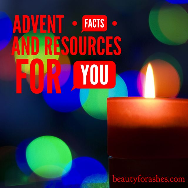 Advent facts and resources for you by Aldyth Thomson