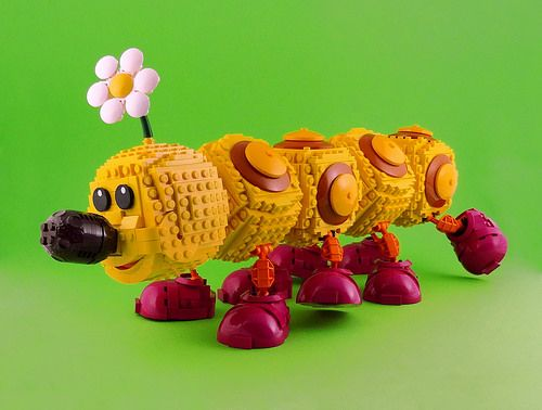 A LEGO Mario Bros Wiggler to brighten your day