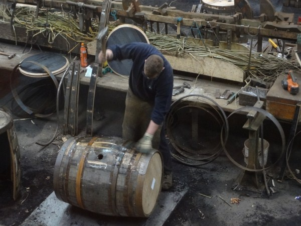 Speyside Cooperage. These guys get paid by how many barrels they produce - they work fast!