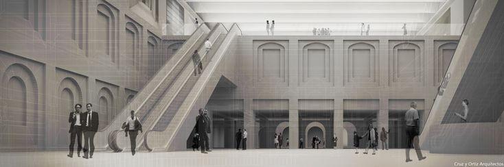 Centro-Artes-Visuales-Madrid-Design-interior-patio-escaleras-mecanicas_Cruz-y-Ortiz-Arquitectos_CYO-R_07