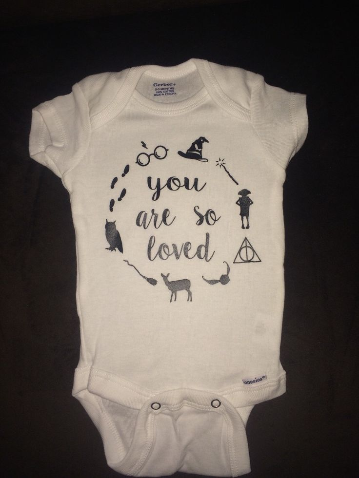 Harry Potter inspired baby onesie! Great for your soon to be potterhead