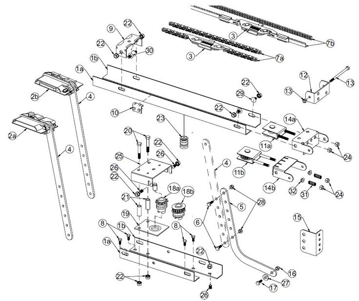 Classic Drive Rail Assembly 2 Cog Model New Style 3018