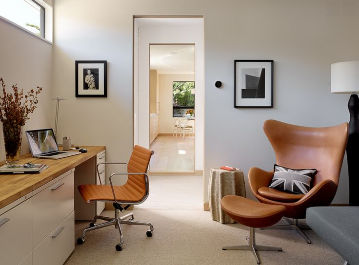 10 stunning modern home office ideas that will blow your mind arne jacobsen chairmid century - Mid Century Modern Home Office Ideas