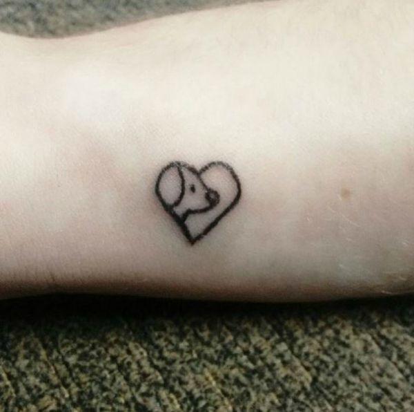 Minimalist dog tattoo