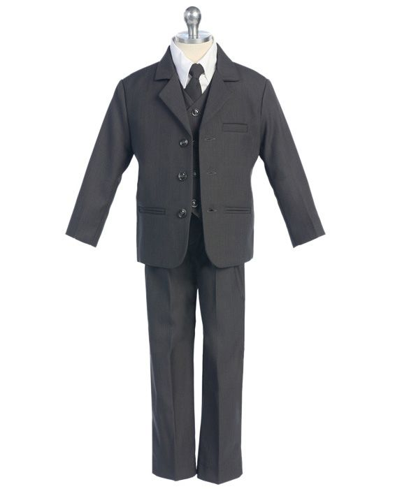 Boys charcoal grey suit at Kids Formal
