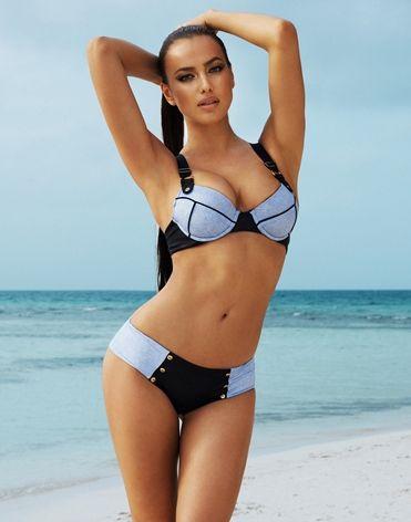 Sexy Divide Denim Push-up Bikini Set by Beach Bunny Swimwear @ Apparel  Addiction - Scrunch Butt - Hipster - Leather - Piping - Button