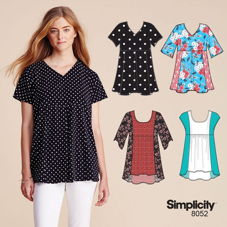 Easy-to-sew top using Simplicity pattern 8052!